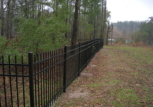 Virginia Woods Metal Fence photo