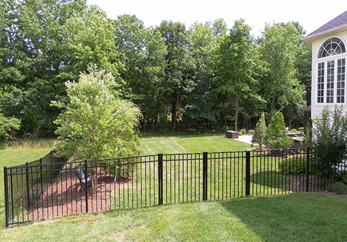 Extensive Backyard Metal Fence in NOVA photo